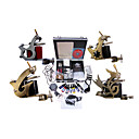 Livraison gratuite Kit Professionnel TATTOO MACHINE srie complte avec 4 mitrailleuses tatouage (0359-02.07-B010)