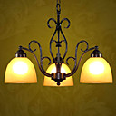 Fields and Garden Black 3-light Linear Chandelier(0810-2204-3)