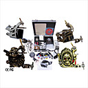 Free Shipping Professional Tattoo Machine Kit Completed Set With 4 Tattoo Gun Machines(0359-03.17-C088)