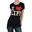 short sleeves round neckline women's t-shirts(8502bc011-0736)