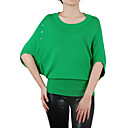 Half Bat Sleeves Round Neckline Women's Sweaters(1001BC030-0736)