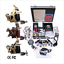 Free Shipping Professional Tattoo Machine Kit Completed Set With 3 Tattoo Gun Machines