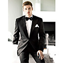 1 Button Side-Vented Peak Lapel Serge Groom Wear/ Tuxedo/ Men's Suit Jacket and Pants