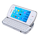 BaoXing N97i Dual Card Dual Camera Quad Band WIFI TV Function Slide Cell Phone White (2GB TF Card)