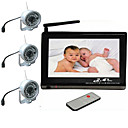 Baby Monitor Set (7 Inch Viewer + 3 Wireless Night Vision Cameras)
