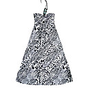 Bead A-line Halter Animal Patterns Women's Dresses(1801BC002-0857)