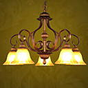 Antique Bronze 5-light Linear Chandelier(0810-2027-5D)