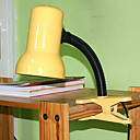 Table Light with Clip in Yellow and Green Color (E27 Bulb Base)
