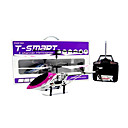 3CH RC Helicopter Metal Alloy Body Airplane Radio Remote Control Helicopters Indoor Toy(Purple)(YX02654P)