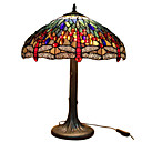 Tiffany-style Red Dragonfly Table Lamp(0923-T21)