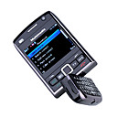 E2000 Dual Card Quad Band Dual Camera WIFI JAVA TV Optical Navigation Key Bluetooth QWERTY Keypad 180 Degree Rotate Cell Phone Black