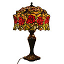 Tiffany-style Red Rose Table Lamp(0923-T2)