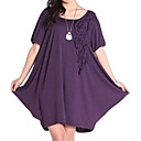 Frills Round Neckline Short Sleeves Maternity Dress / Maternity Wear (FF-1801BE314-0736)