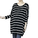 Cotton / Stripes Bat Sleeves Round Neckline Maternity Dress / Maternity Wear (FF-1801BE305-0736)