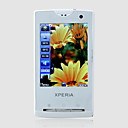 Mini X10 Dual Card Quad Band TV JAVA Flat Touch Screen Cell Phone White (2GB TF Card)