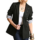 FASHION IDOLS Style / Pockets Neckline Buttons Long Sleeves Blazer / Women's Blazers (FF-0101BE001-0497)