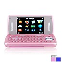 9200S Dual Band Dual Card Dual Screen Flashlight JAVA Bluetooth FM QWERTY Keypad Flip Cell Phone (2GB TF Card)