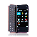E3000 WIFI Quad Band Dual Card TV JAVA Dual Camera Flashlight QWERTY Keypad 3.2 Inch Touch Screen Cell Phone Black(2GB TF Card)