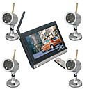 2.4ghz sans fil kit outil de scurit des systmes, 7-inch TFT LCD couleur numrique, 2,4 GHz de surveillance sans fil rcepteur audio-visuel (sfa1013