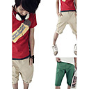 New Arrival Men's Short Straight Leg Relaxed Fashion Red Green Yellow Cotton Pant (0531-5.31-21)