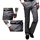 New Arrival Men's Long Straight Leg Relaxed Fashion Grey Yellow Cotton Pant (0531-5.31-143)
