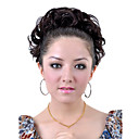 Synthetic Dark Coffee Short Curly Ponytail Wrap Hairpiece