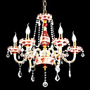 6-lumire de bougie k9 lustre de cristal (0944-hh11011)