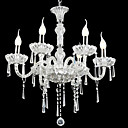 6-lumire de bougie k9 lustre de cristal (0944-hh11032)