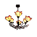 Lotus Tiffany 6-light Chandelier (0923-TF-P31)