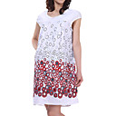 Colorful Dot Patterns Short Sleeves Round Neckline Jersery Maternity Dress / Women's Maternity Wear (FF-1801BG010-0736)