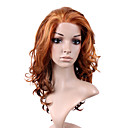 Hand Tied Style Lace Front Long Synthetic Golden Brown Curly Hair Wig