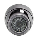 CCD 24 IR Waterproof Security Camera with Vandalproof Dome