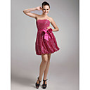 A-line Strapless Short/ Mini Sequined Cocktail Dress (FMSM04127)