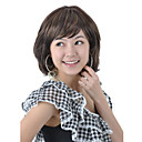Capless Medium Length High Quality Synthetic Dark Coffee Straight Hair Wig