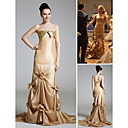 Serena Trumpet/Mermaid Strapless Chapel Train Taffeta Prom/Gossip Girl Fashion Dress (FSH0026)