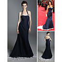 Jeanne Tripplehorn Trumpet/ Mermaid Halter Court Train Satin Emmy/ Evening Dress (FSD0372)