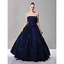 A-line Strapless Floor-length Taffeta Bridesmaid/ Evening Dress (FSD0221)