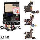 damas de premire qualit fabriqus  la main tatouage 3 machines kit avec alimentation suprieure conduit (ly154)