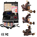 damas de premire qualit fabriqus  la main tatouage 3 machines kit avec alimentation suprieure conduit (ly152)