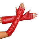 100% Sheep Skin / Finger Open Long Style Leather Glove /  Women's Fur & Leather (FF-BI0736010)