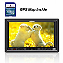 7-inch Touch Screen 2 Din In-Dash Car DVD Player  +  GPS Map Card