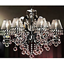 Iron Chrome 6-light K9 Crystal Chandelier With Lamp Shade (0835-AD88121)
