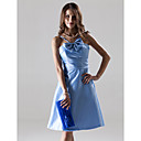 A-line Spaghetti Straps Knee-length Taffeta Bridesmaid/ Wedding Party/ Cocktail Dress