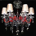Iron Chrome 6-light K9 Crystal Chandelier With Lamp Shade (0835-AD88122)
