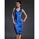 Sheath/ Column Halter Knee-length Satin Mother of the Bride Dress (FSH0158)