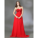Chiffon A-line Sweetheart Sweep/Brush Train Evening Dress inspired by Amy Adams at the 81st Oscar