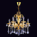 6-light Gold Color Bright Chrome K9 Crystal Chandelier (1069-J9862-D6)