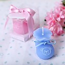 Baby Bootie Candle in Blue(set of 4)
