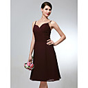 Clearance!A-line Spaghetti Straps Sweetheart Knee-length Satin Bridesmaid/ Wedding Party Dress