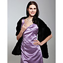 Sleeveless Faux Fur Bridal Wedding Jacket/ Wrap(0537-WS29005)